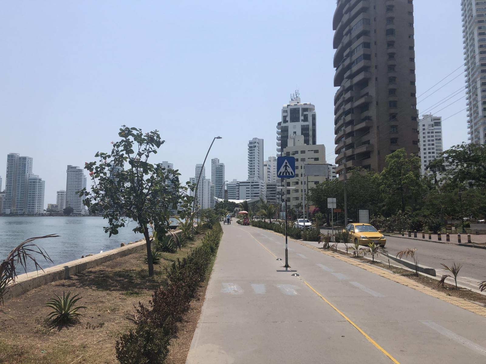 Paseo peatonal de Bocagrande
